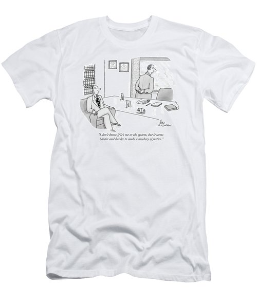 I Don't Know If It's Me Or The System Men's T-Shirt (Athletic Fit)