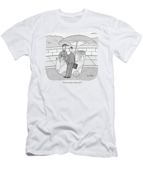 Do You Want A Clean One? Men's T-Shirt (Athletic Fit)
