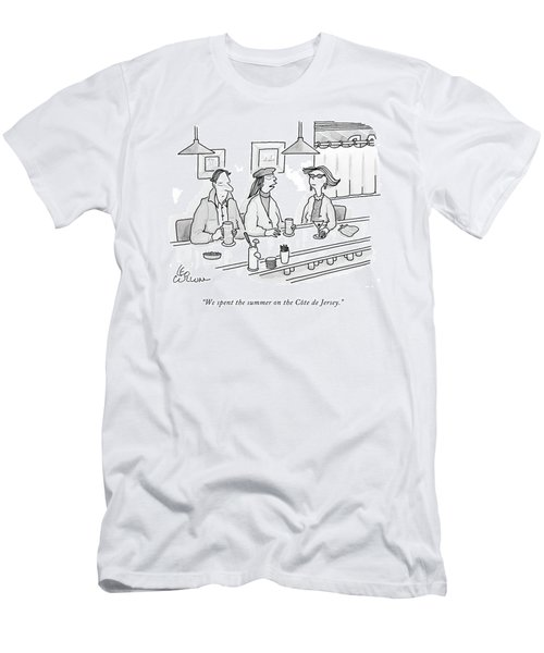 We Spent The Summer On The Cote De Jersey Men's T-Shirt (Athletic Fit)
