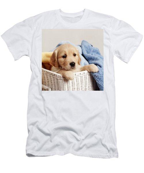 Golden Retriever Puppy Men's T-Shirt (Athletic Fit)