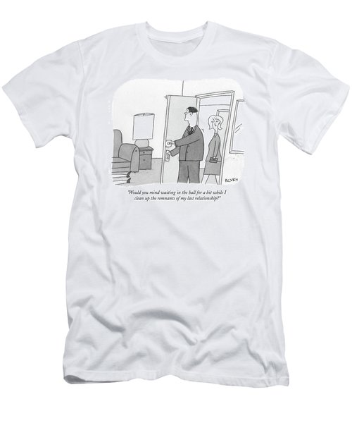 Would You Mind Waiting In The Hall For A Bit Men's T-Shirt (Athletic Fit)
