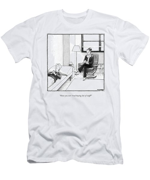 Have You Ever Tried Buying Lots Of Stuff? Men's T-Shirt (Athletic Fit)