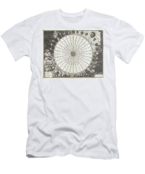 1650 Jansson Wind Rose Anemographic Chart Or Map Of The Winds Men's T-Shirt (Athletic Fit)