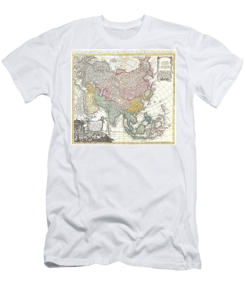 1744 Homann Heirs Map Of Asia  Men's T-Shirt (Athletic Fit)