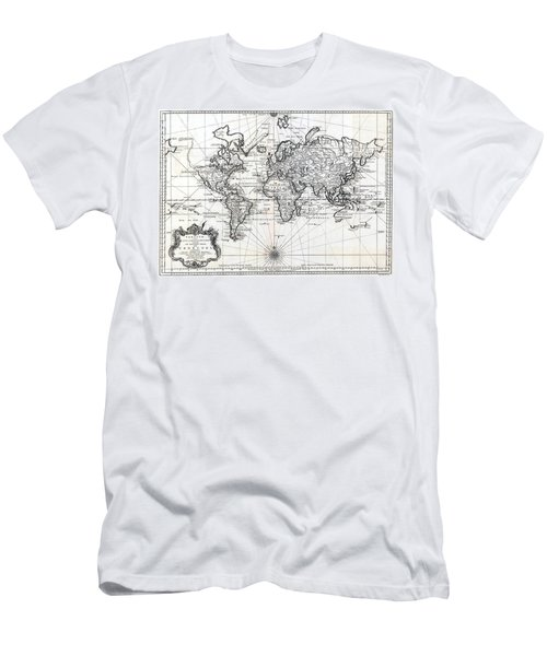 1748 Antique World Map Versuch Von Einer Kurzgefassten Karte  Men's T-Shirt (Athletic Fit)