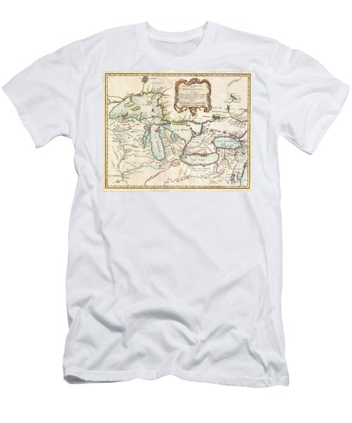 1755 Bellin Map Of The Great Lakes Men's T-Shirt (Athletic Fit)