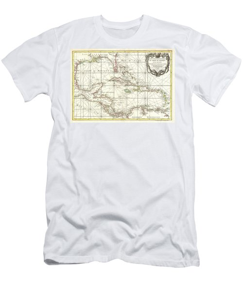 1762 Zannoni Map Of Central America And The West Indies Men's T-Shirt (Athletic Fit)