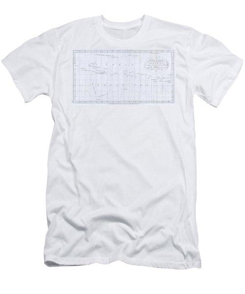 1780 Cook  Hogg Map Of Tahiti  Men's T-Shirt (Athletic Fit)