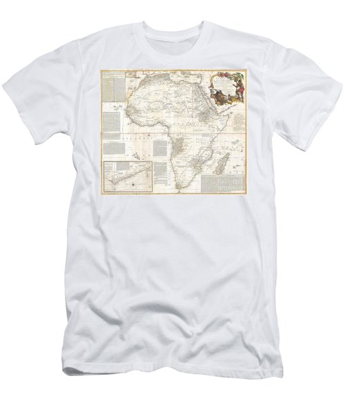 1787 Boulton  Sayer Wall Map Of Africa Men's T-Shirt (Athletic Fit)