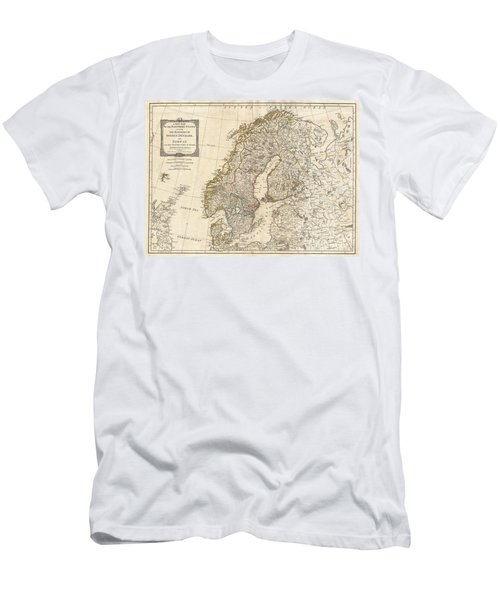 1794 Laurie And Whittle Map Of Norway Sweden Denmark And Finland Men's T-Shirt (Athletic Fit)