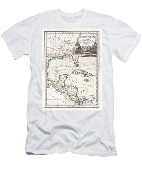 1798 Cassini Map Of Florida Louisiana Cuba And Central America Men's T-Shirt (Athletic Fit)