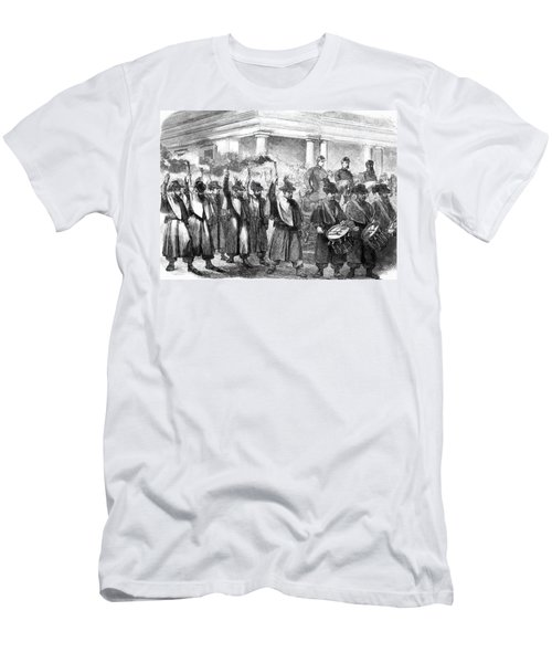 1800s 1860s December 1861 Torchlight Men's T-Shirt (Athletic Fit)