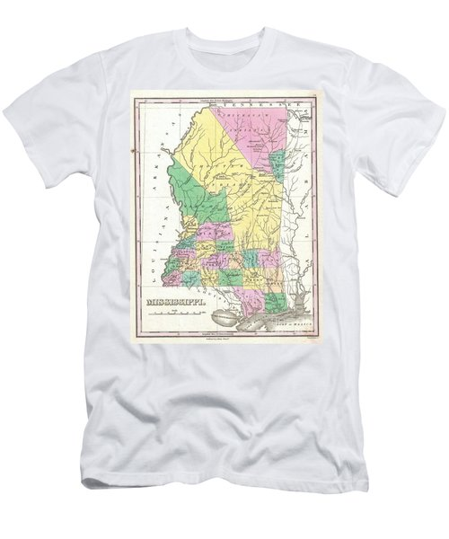 1827 Finley Map Of Mississippi Men's T-Shirt (Athletic Fit)