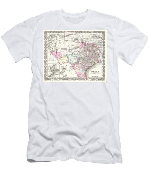 1855 Colton Map Of Texas Men's T-Shirt (Athletic Fit)