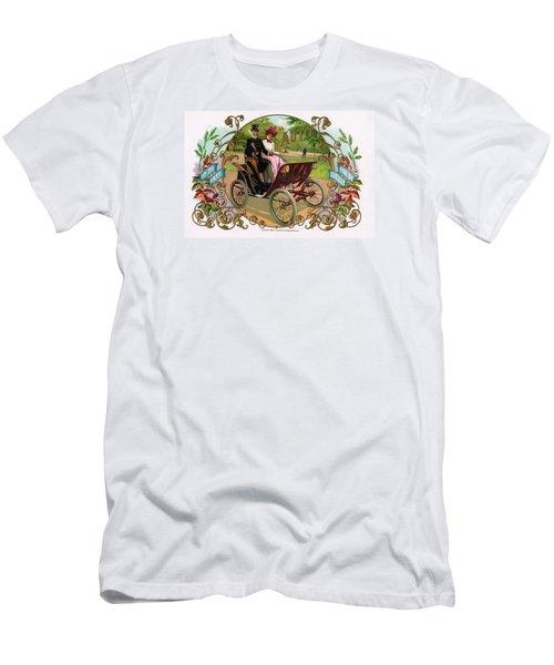 Men's T-Shirt (Slim Fit) featuring the digital art 1890 Auto Vintage Art by Maciek Froncisz