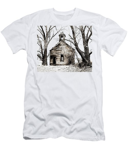 Men's T-Shirt (Slim Fit) featuring the photograph 1904 School House Memory by Sonya Lang