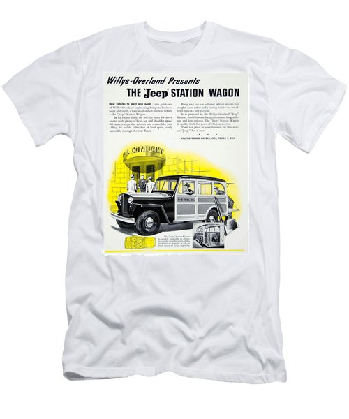 1946 - Willys Overland Jeep Station Wagon Advertisement - Color Men's T-Shirt (Athletic Fit)