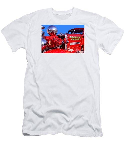 1949 Ahrens Fox Piston Pumper Fire Truck Men's T-Shirt (Athletic Fit)