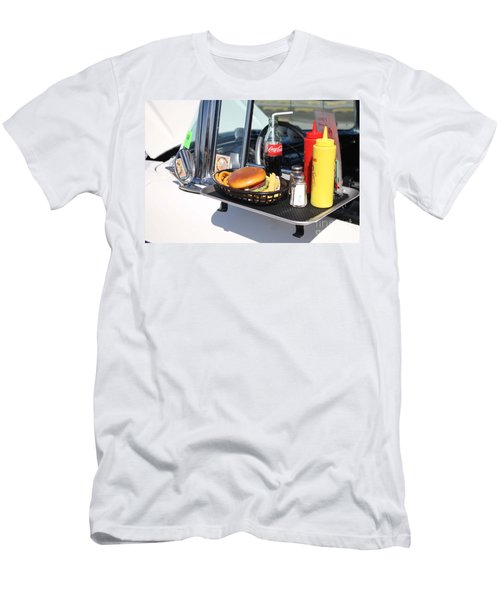 1950's Drive In Movie Snack Tray Men's T-Shirt (Slim Fit) by John Telfer