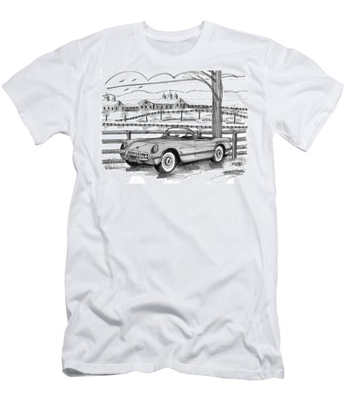1953 Chevrolet Corvette Men's T-Shirt (Athletic Fit)