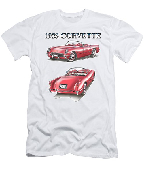 1953 Corvette Men's T-Shirt (Athletic Fit)