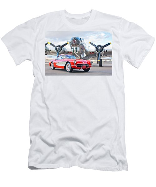 1957 Chevrolet Corvette Men's T-Shirt (Athletic Fit)