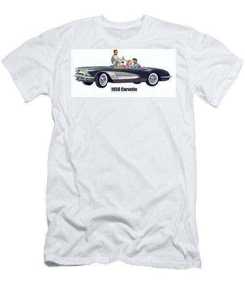 1958 Chevrolet Corvette Men's T-Shirt (Athletic Fit)