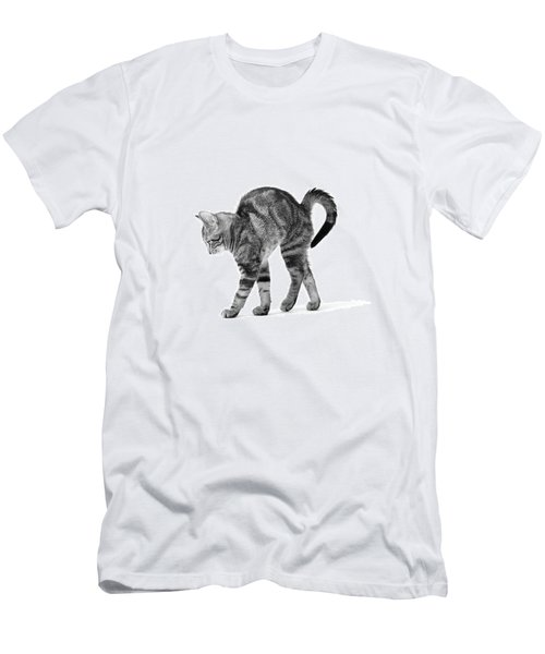1960s Side View Of Kitten Stretching Men's T-Shirt (Athletic Fit)