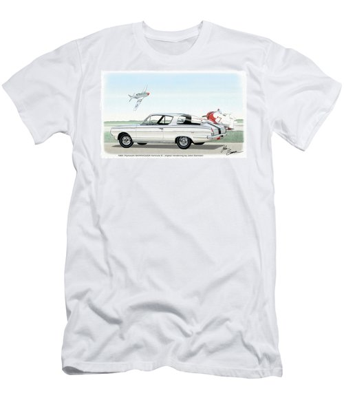 1965 Barracuda  Classic Plymouth Muscle Car Men's T-Shirt (Slim Fit) by John Samsen