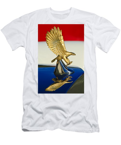 Men's T-Shirt (Athletic Fit) featuring the photograph 1986 Zimmer Golden Spirit Hood Ornament by Jill Reger