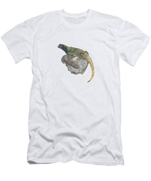 Argentine Lizard Men's T-Shirt (Slim Fit) by Cindy Hitchcock