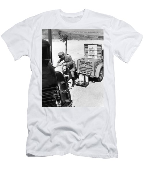 Auto Service Patrol Gives Aid Men's T-Shirt (Athletic Fit)