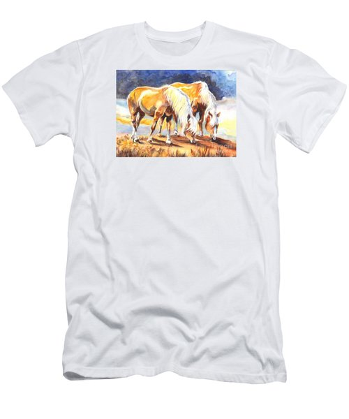 Men's T-Shirt (Slim Fit) featuring the painting Best Pals by Carol Wisniewski