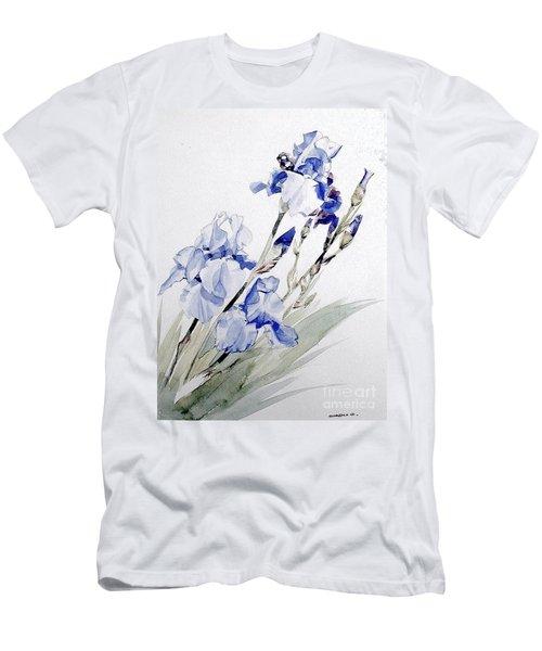 Blue Irises Men's T-Shirt (Athletic Fit)