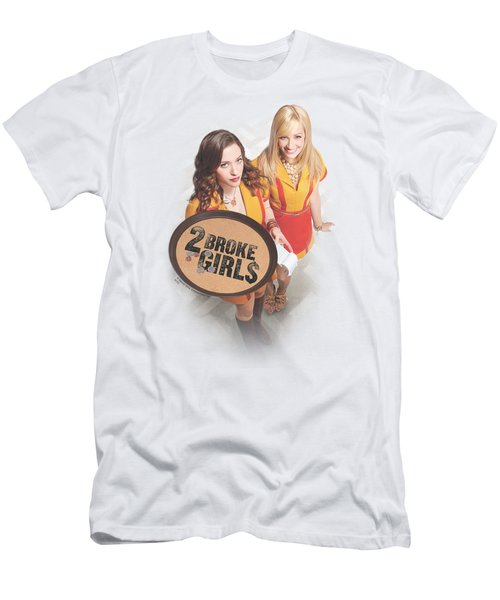 2 Broke Girls - Tips Really Men's T-Shirt (Athletic Fit)