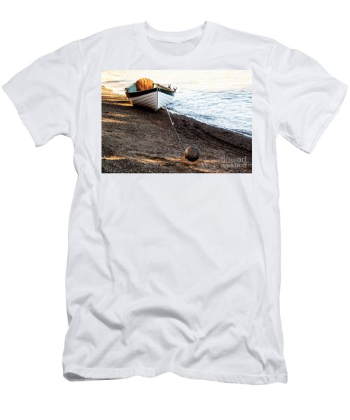 China Beach Rowboat Men's T-Shirt (Slim Fit) by Roselynne Broussard