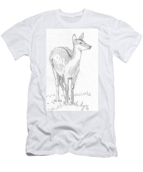 Deer Drawing  Men's T-Shirt (Athletic Fit)