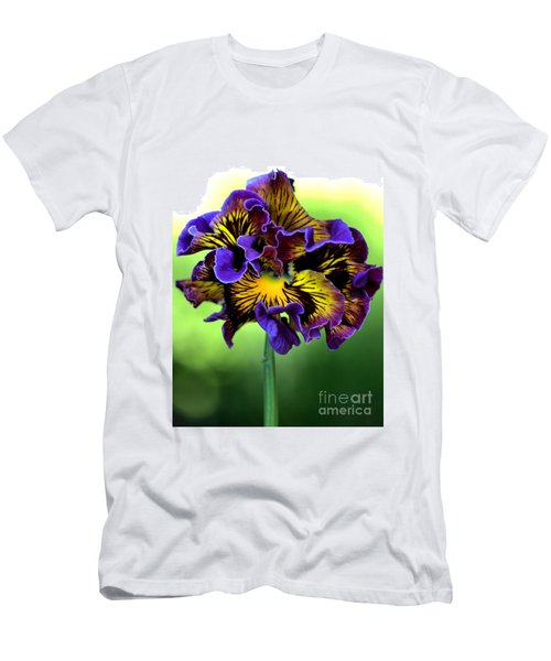 Frilly Pansy Men's T-Shirt (Slim Fit) by Joy Watson