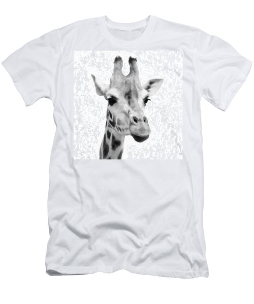 Giraffe On White Background  Men's T-Shirt (Athletic Fit)