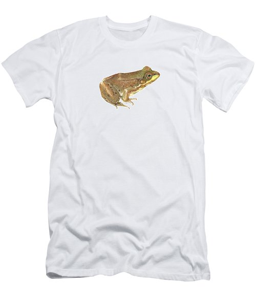 Green Frog Men's T-Shirt (Slim Fit) by Cindy Hitchcock