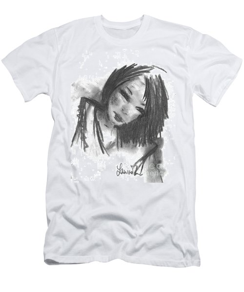 Men's T-Shirt (Athletic Fit) featuring the drawing Jasper by Laurie L