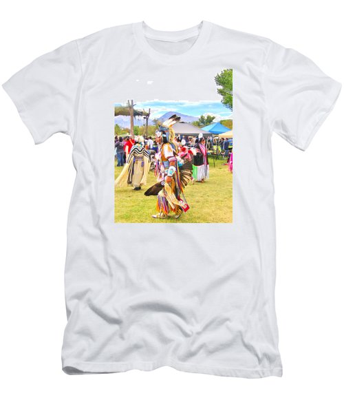 Men's T-Shirt (Slim Fit) featuring the photograph Paiute Powwow by Marilyn Diaz