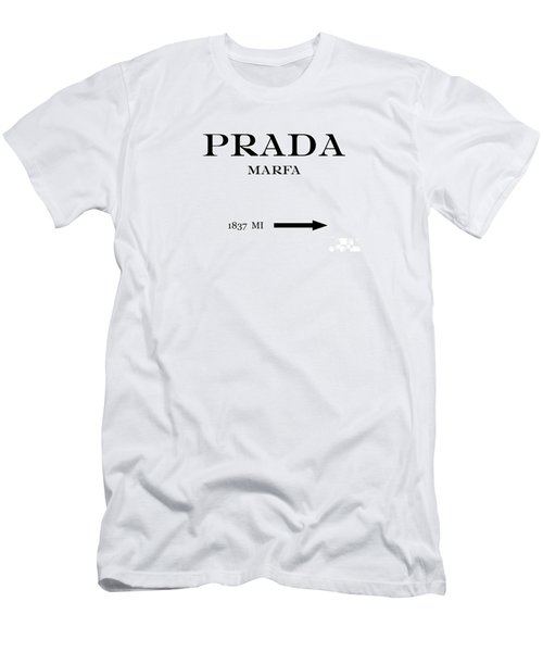67c1b0764 Prada Marfa Mileage Distance Men's T-Shirt (Athletic Fit)