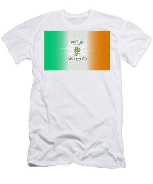 Proud Of My Irish Roots Men's T-Shirt (Athletic Fit)