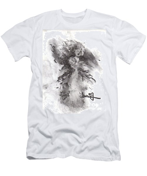 Men's T-Shirt (Athletic Fit) featuring the drawing Rapture Of Peace by Laurie Lundquist