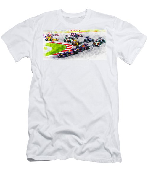 Sebastian Vettel Leads The Pack Men's T-Shirt (Athletic Fit)