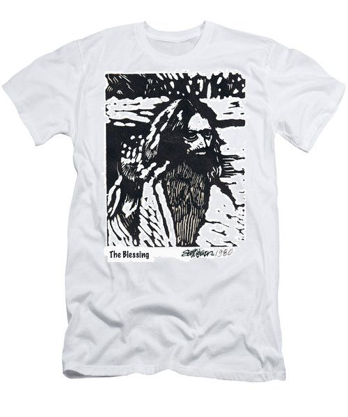 Men's T-Shirt (Slim Fit) featuring the relief The Blessing by Seth Weaver