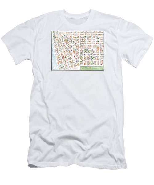 The Greenwich Village Map Men's T-Shirt (Slim Fit) by AFineLyne