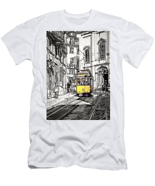 Lisbon Tram 28 Men's T-Shirt (Athletic Fit)