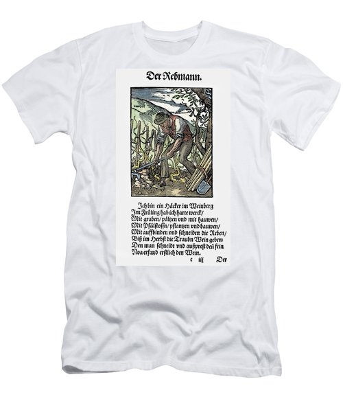 Men's T-Shirt (Slim Fit) featuring the painting Vinegrower, 1568 by Granger